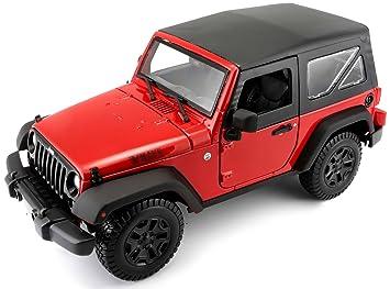 Maisto 1:18 Scale Jeep Wrangler 14 Model Car (Colors May Vary ...