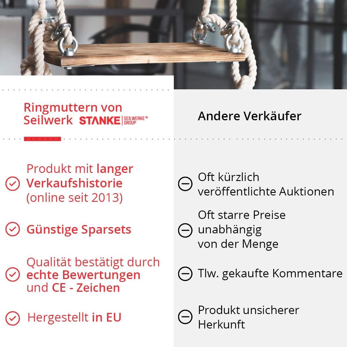 Seilwerk STANKE 25x /Écrou /à /Œil M8 /Écrous /à Anneau 8 mm /Écrou /à /Œil Zingu/é