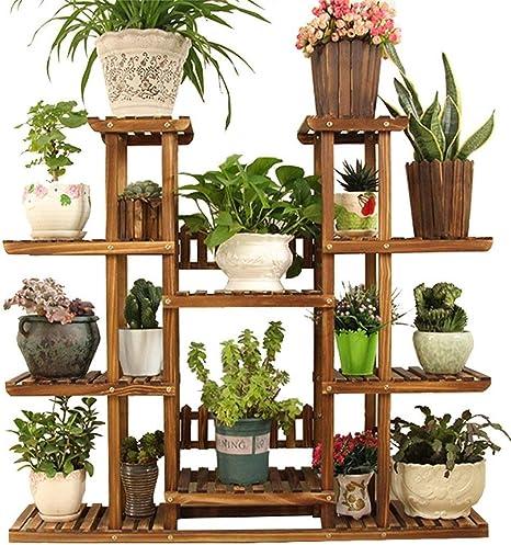 ZHAS Soporte de Flor de Madera de 5 Capas, Flores y Plantas suculentas Hierbas Macetas Estante de exhibición de Piso Jardín Interior y Exterior Balcón Salón Estantes Decorativos, jardín de 120x25: Amazon.es: