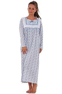 Bay eCom UK Women Nightwear Floral Print 100% Cotton Long Sleeve Long  Nightdress M to… 733613096