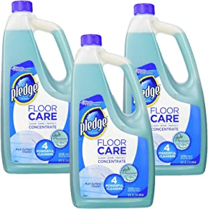 Pledge Multi-Surface Concentrated Floor Cleaner 32 Ounce, 3-Pack