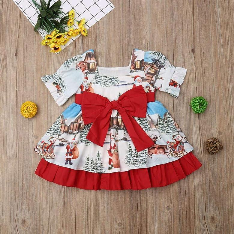 Vestidos para Ni/ñas Tul Navidad Manga Larga Oto/ño Invierno PAOLIAN Vestidos Tut/ú de Bebe Ni/ñas Fiesta Elegantes Bautizo Reci/én Nacida Disfraz Ni/ñas Navide/ños Princesa Vestir 6 Meses-4 A/ños