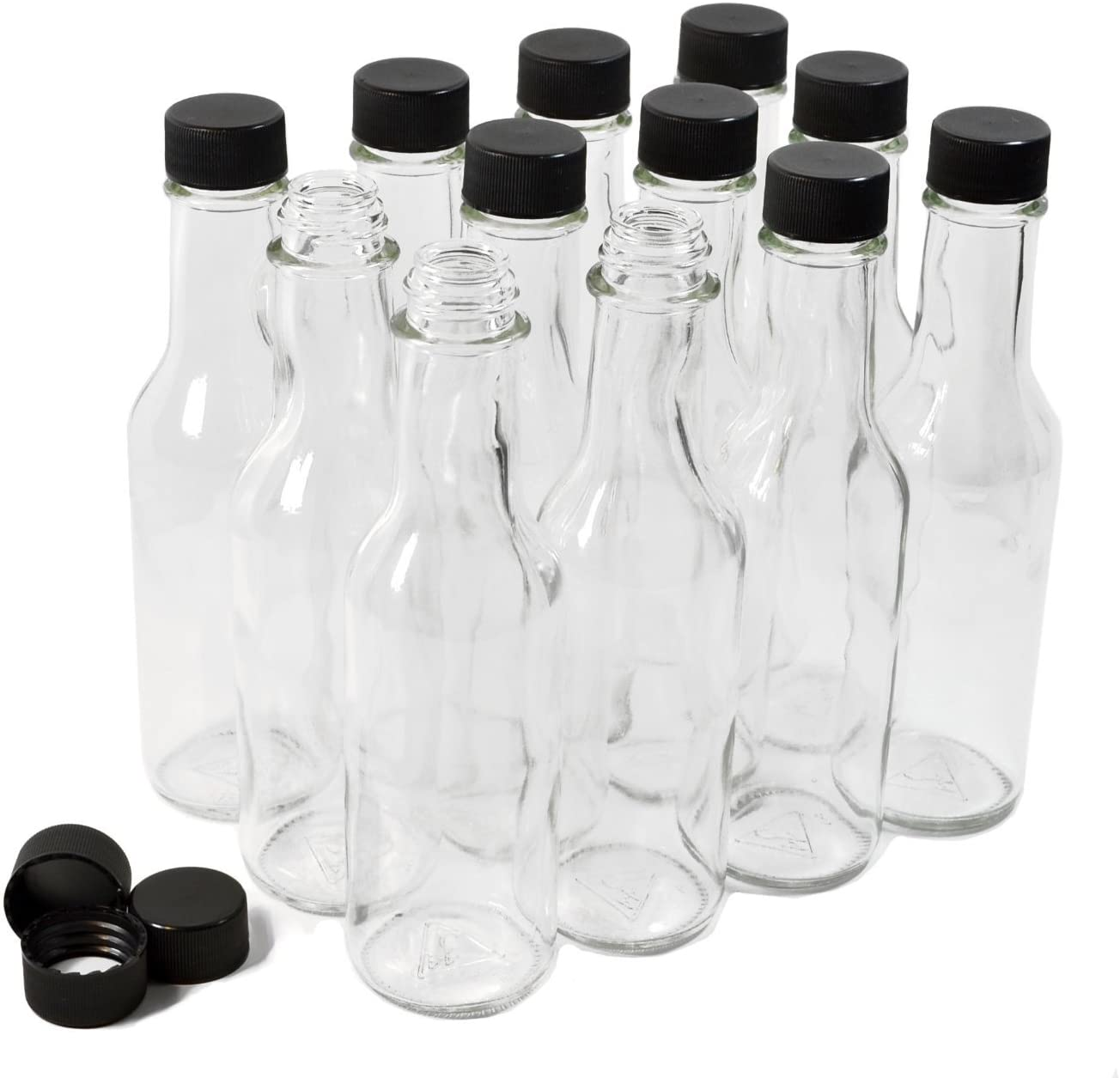 Clear Glass Woozy Bottles, 5 Oz - Case of 12