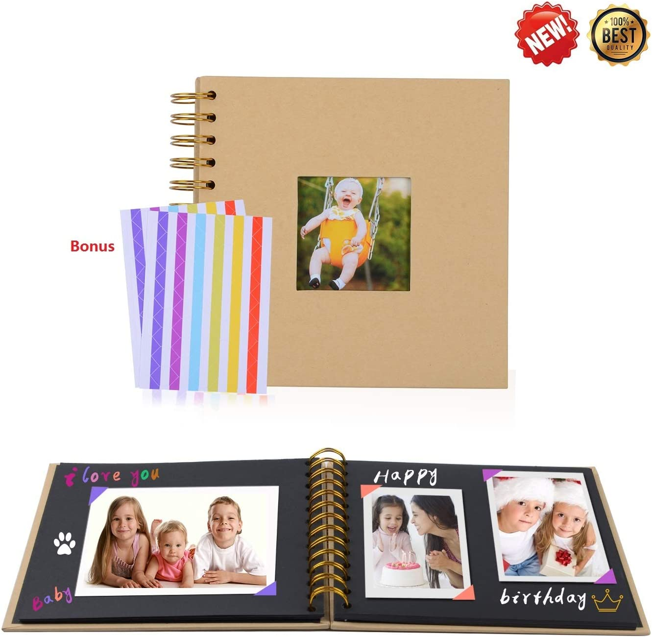 Beautiful DIY Photo Album 7 Styles of Family Baby Lover Children-Wedding Photo Album-Photo Album Scrapbook-Photo Album and Frames-Photo Album Self Adhesive-Photo Album and Pages