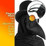 Skeleteen Medieval Doctor Plague Mask - Black