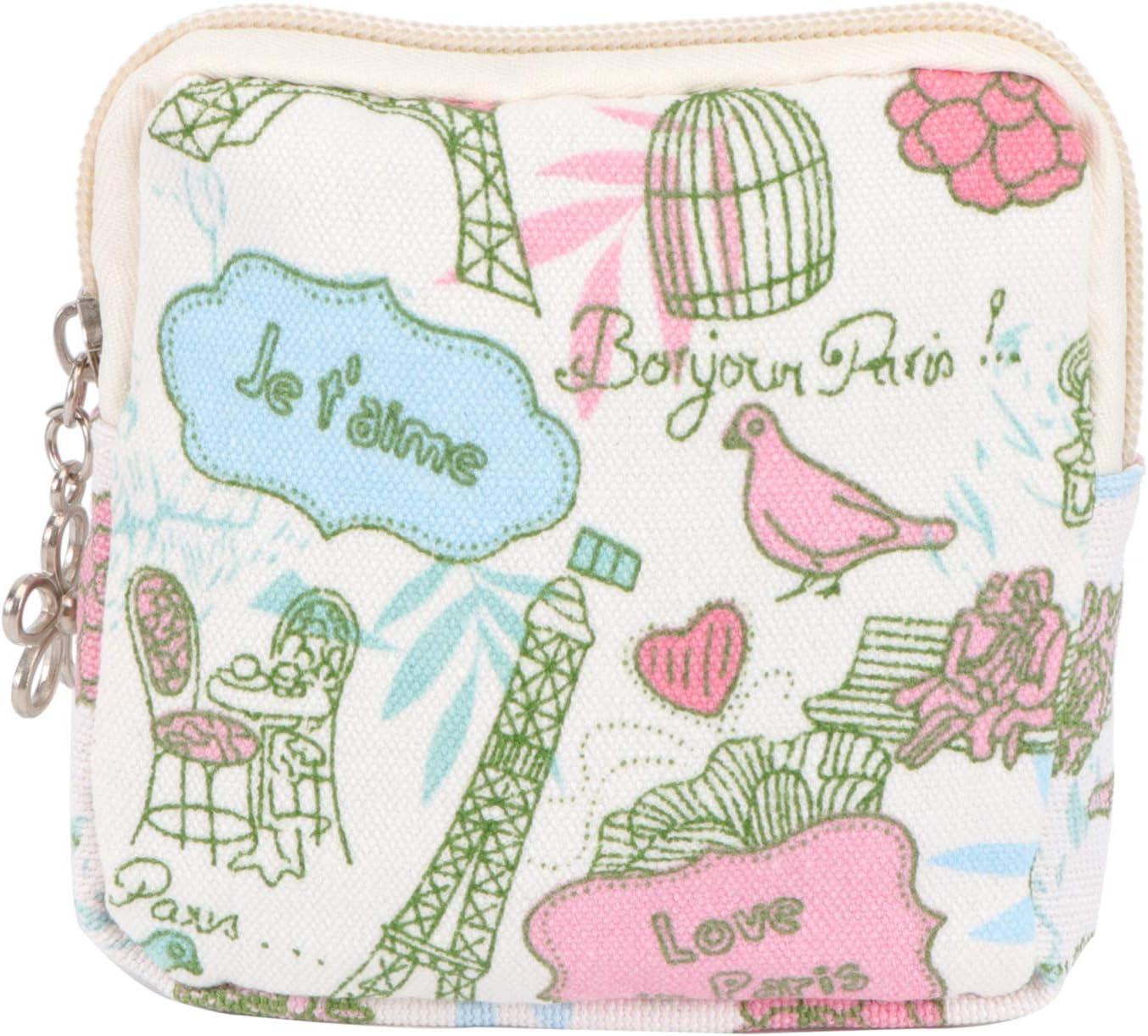 HEALLILY Bolsa de compresa menstrual con cremallera, bolsa ...
