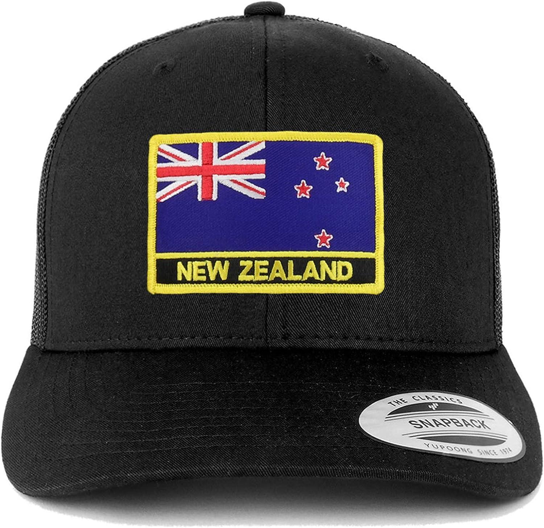 Trendy Apparel Shop Flexfit XXL New Zealand Flag Retro Trucker Mesh Cap