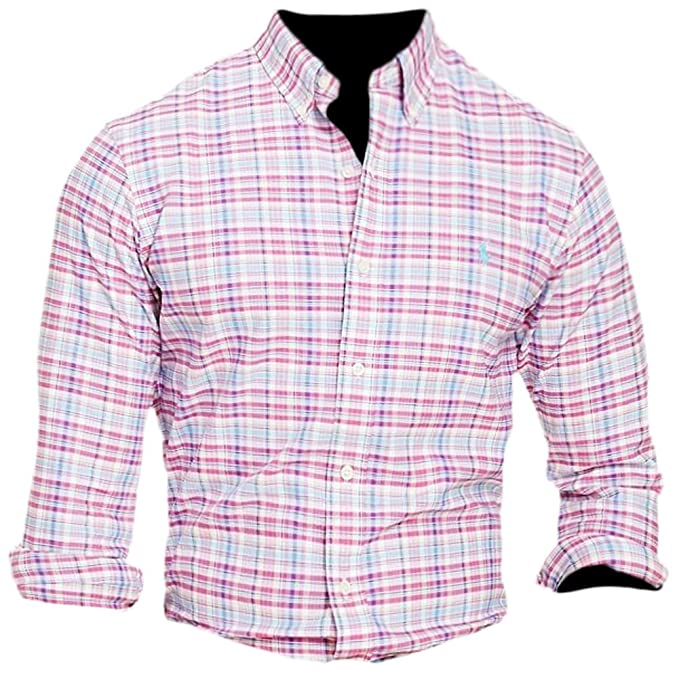 f6cf849b RALPH LAUREN Polo Men's Checked Oxford Classic Fit Long Sleeve ...