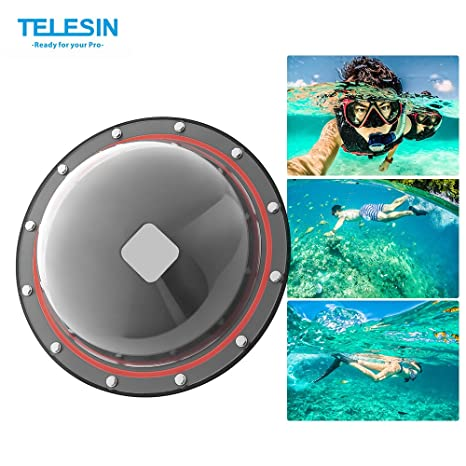 Amazon.com : TELESIN GP-DMP-SESSION Dome Port for GoPro Hero Session/5/4 Camera Underwater Diving Transparent Lens Housing Dome : Camera & Photo