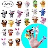 MOLECOLE 22pcs Soft Plush Animal Finger Puppets Set Baby Story Time for Theme Party Favor
