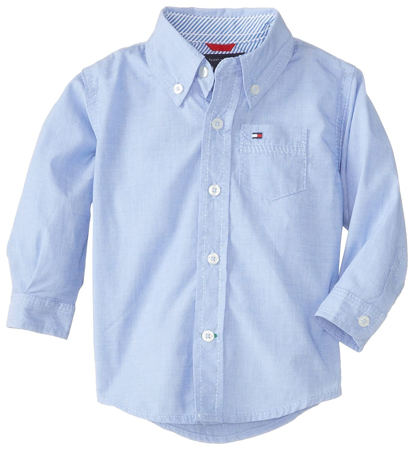Tommy Hilfiger Baby Boys' Long Sleeve Solid Woven Shirt