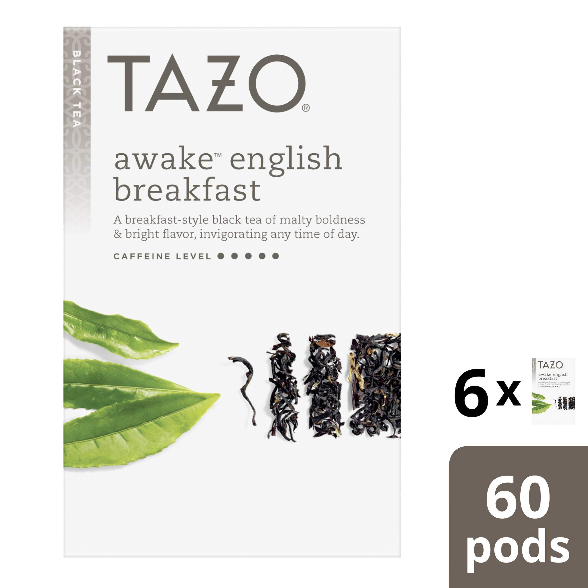 Tazo Tea K-Cup Awake English Breakfast Tea 10 count (Pack of 6) by TAZO