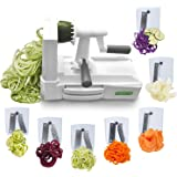 Spiralizer Ultimate 7-Blade Vegetable Slicer Strongest Heaviest Duty Veggie Pasta Spaghetti Maker for Healthy Low Carb/Paleo/Gluten-Free Meals With 3 Exclusive Recipe E-Books …