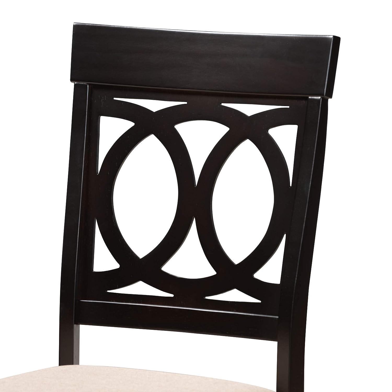 Beige Baxton Studio 157-4PC-9731-AMZ Dining Chair 4-Piece Set
