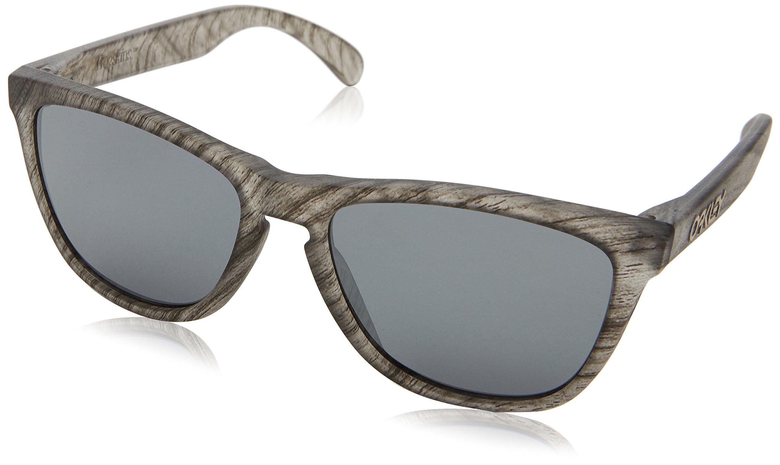 a4c72f528 Galleon - Oakley Men's Frogskins Non-Polarized Iridium Square Sunglasses,  MATTE CLEAR WOODGRAIN, 55 Mm