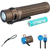 OLIGHT Warrior Mini Linterna Tactica Recargable USB 1500 lúmenes Blanca Fría, Linterna LED Militar Policía Camping…