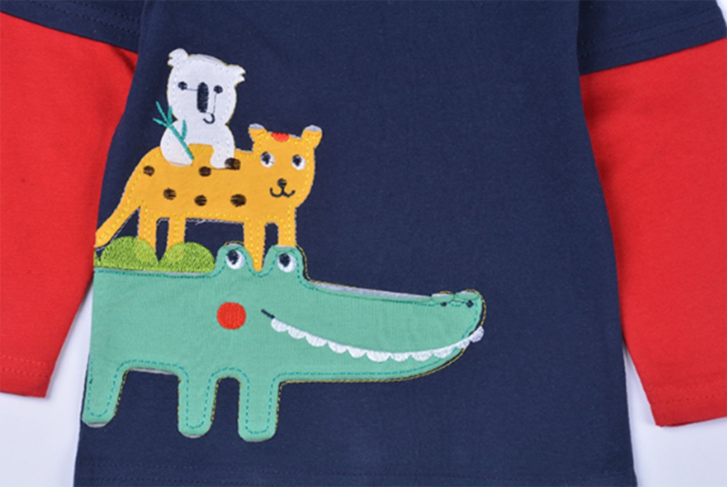 Crocodile Little Boys' Pajamas 100% Cotton Long Sleeve Clothes Toddler Kids T-Shirt by LOVE ROSE (Image #3)