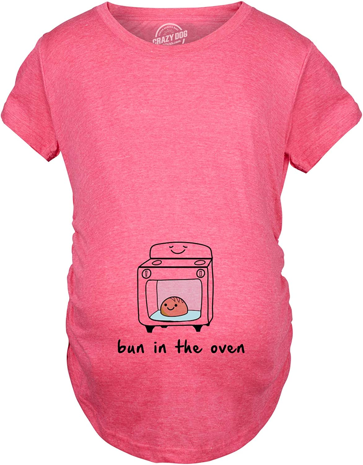 Maternity Bun in The Oven T Shirt Funny Pregnancy Announcement Tee