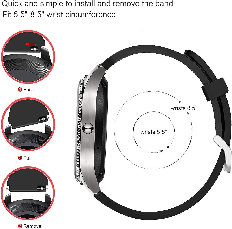 Simpleas Cinturino per Orologio compatibile con Ticwatch C2 Rose Gold (Women) 18mm, Braccialetto Sportivo di Ricambio in Silicone per Orologi Vino
