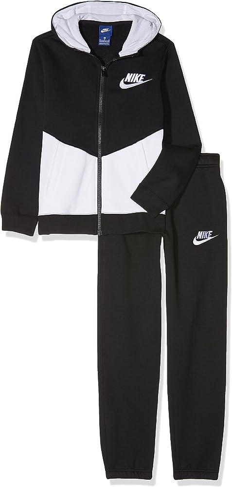 Nike B NSW TRK Suit BF Core Chándal, Niños, Negro (Black/White ...