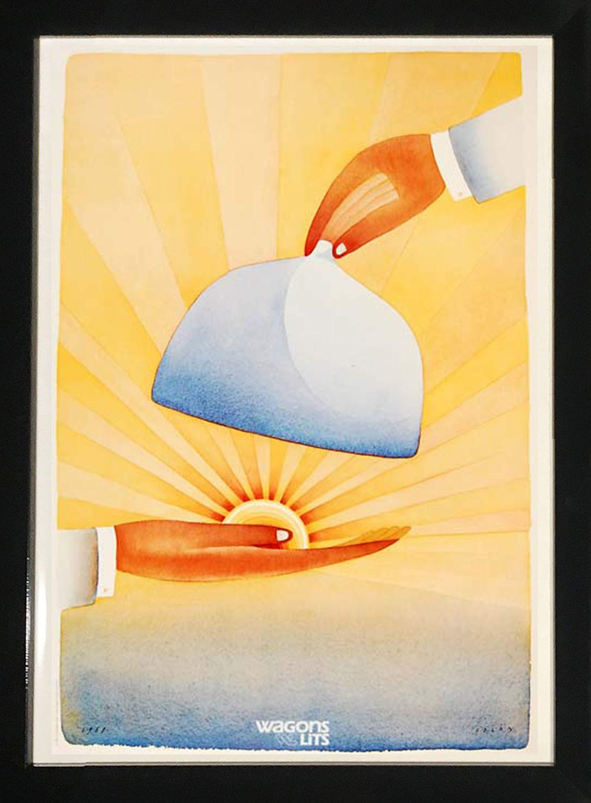 Framed Art''Sunrise Platter'' by Folon by