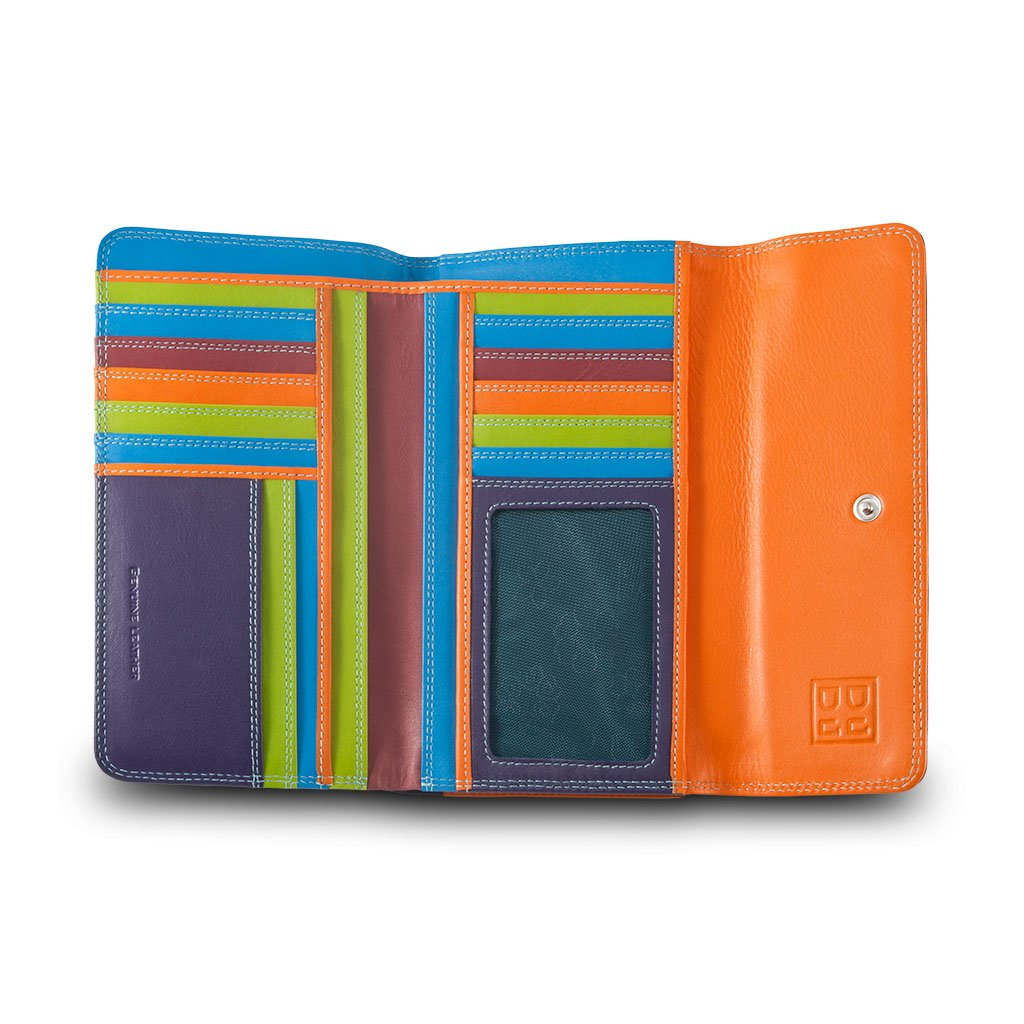 Amazon.com: Soft leather multi-colour womans wallet by DUDU - Colorful Collection ~ Falkland - Violet: Shoes