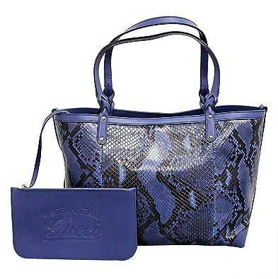 6fe8d8e8d0d Amazon.com  Gucci Women s Blue Python Craft Tote Bag 247209  Shoes