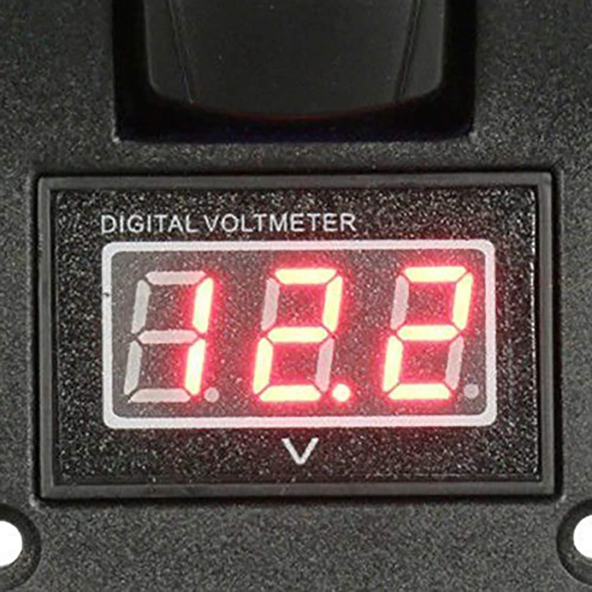 Morning May 12-24 V LED Dual Battery Test Panel Interruptor de balanc/ín Car Truck Marine Volt/ímetro 4P ON-OFF-ON
