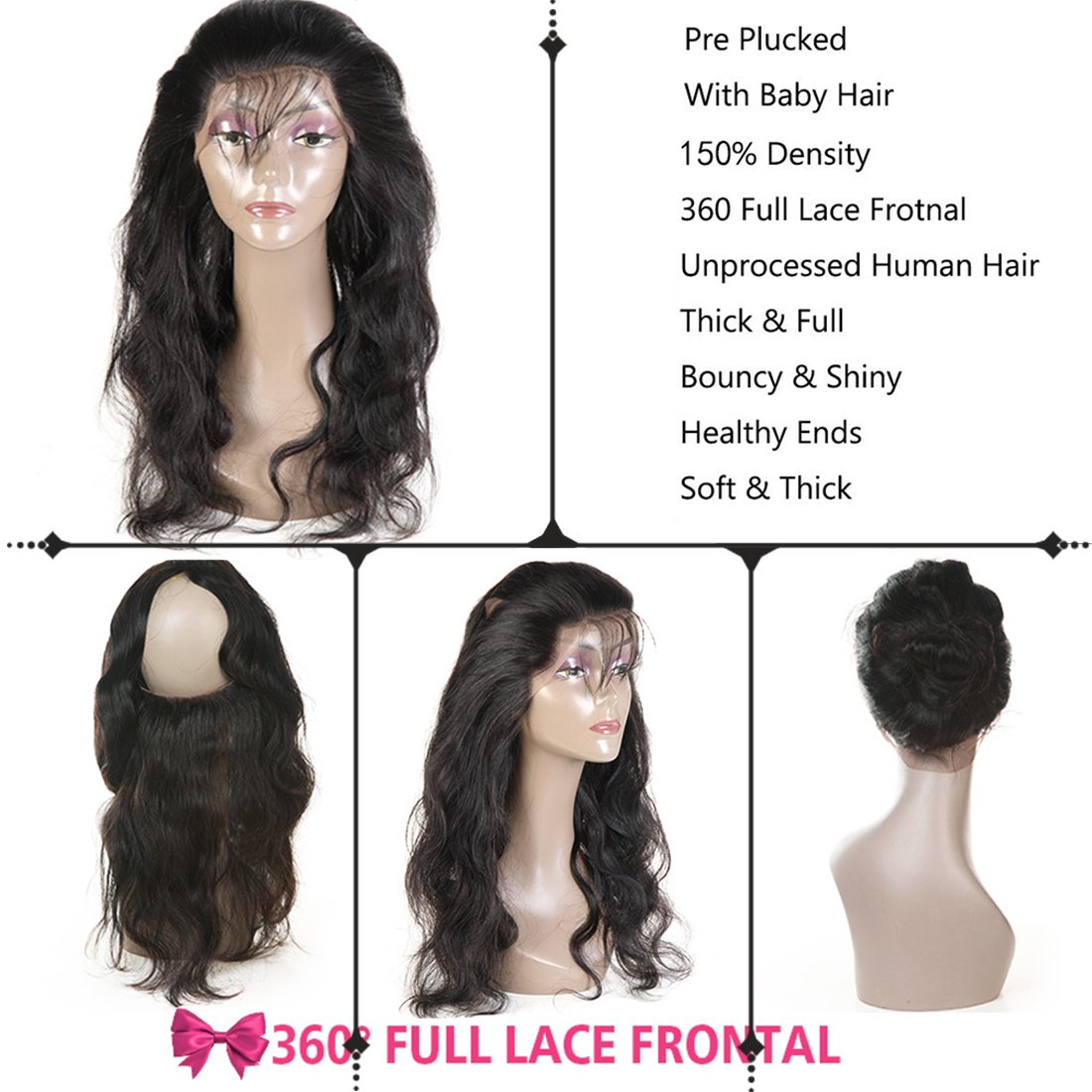 Human Hair Weaves Practical 3 Bundles Peruvian Afro Kinky Curly With Closure Pre Plucked With Baby Hair Bouncy Curl No Shedding No Tangle Non Remy Black 1b Refreshment