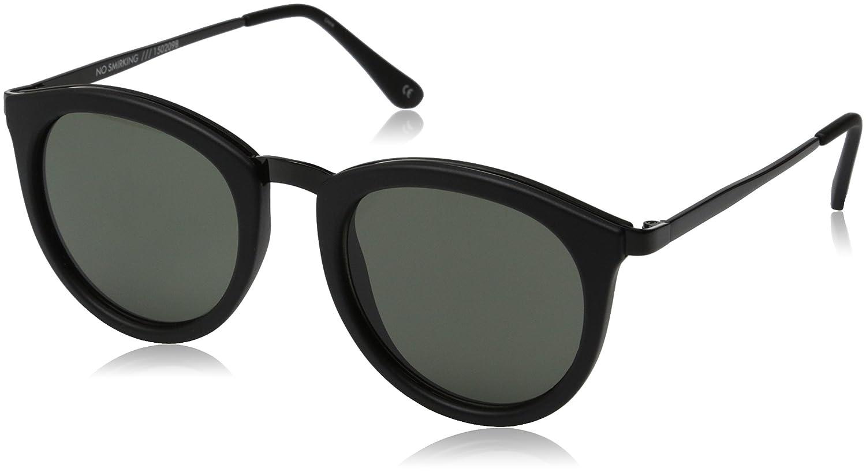cb167dfda9ff Amazon.com: Le Specs Women's No Smirking Sunglasses, Black Rubber/Khaki  Mono, One Size: Clothing