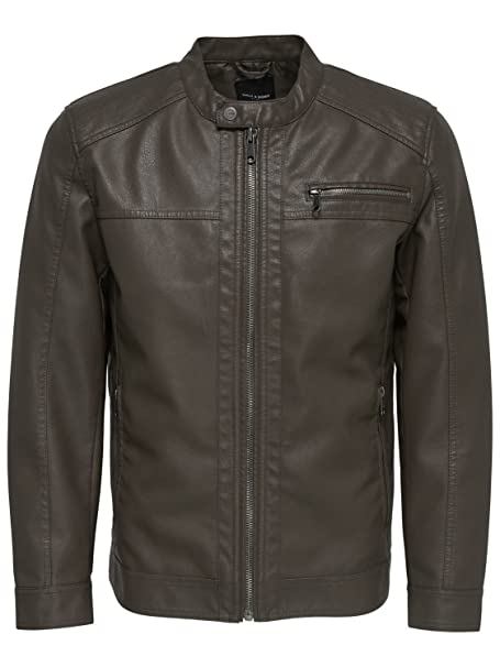 Only & Sons Hombre 22008649BROWN MArrón Poliéster Chaqueta