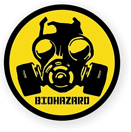 1 pc impassioned unique biohazard symbol zombie car sticker safety decal window permit hard hat label