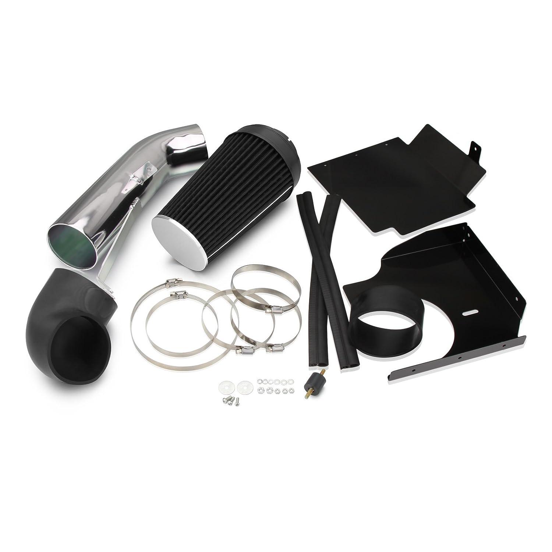 Dromedary Cold Air Intake System w//Heat Shield For GMC Chevy V8 4.8L//5.3L//6.0L 1999-2006 4 BLACK