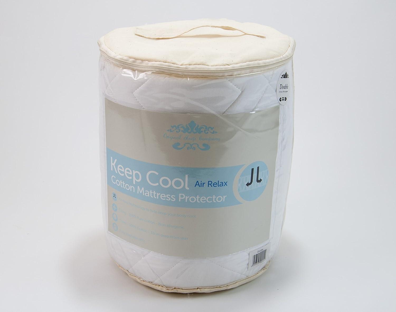 Sleep Company - Protector de colchón con tecnología de relajación de Aire para Verano con Falda de 38 cm de Profundidad: Amazon.es: Hogar