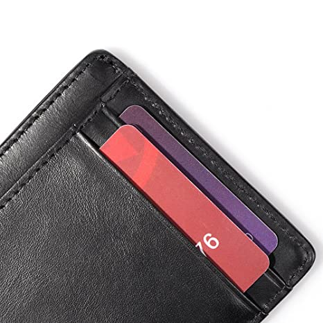 193a71b9e668 OMcolor Slim Wallet Front Pocket Wallet Minimalist Secure Thin ...