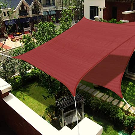 JFMBJS Sun Shade Sails, Canopy Rectangular Sails Shade, 185 gsm ...