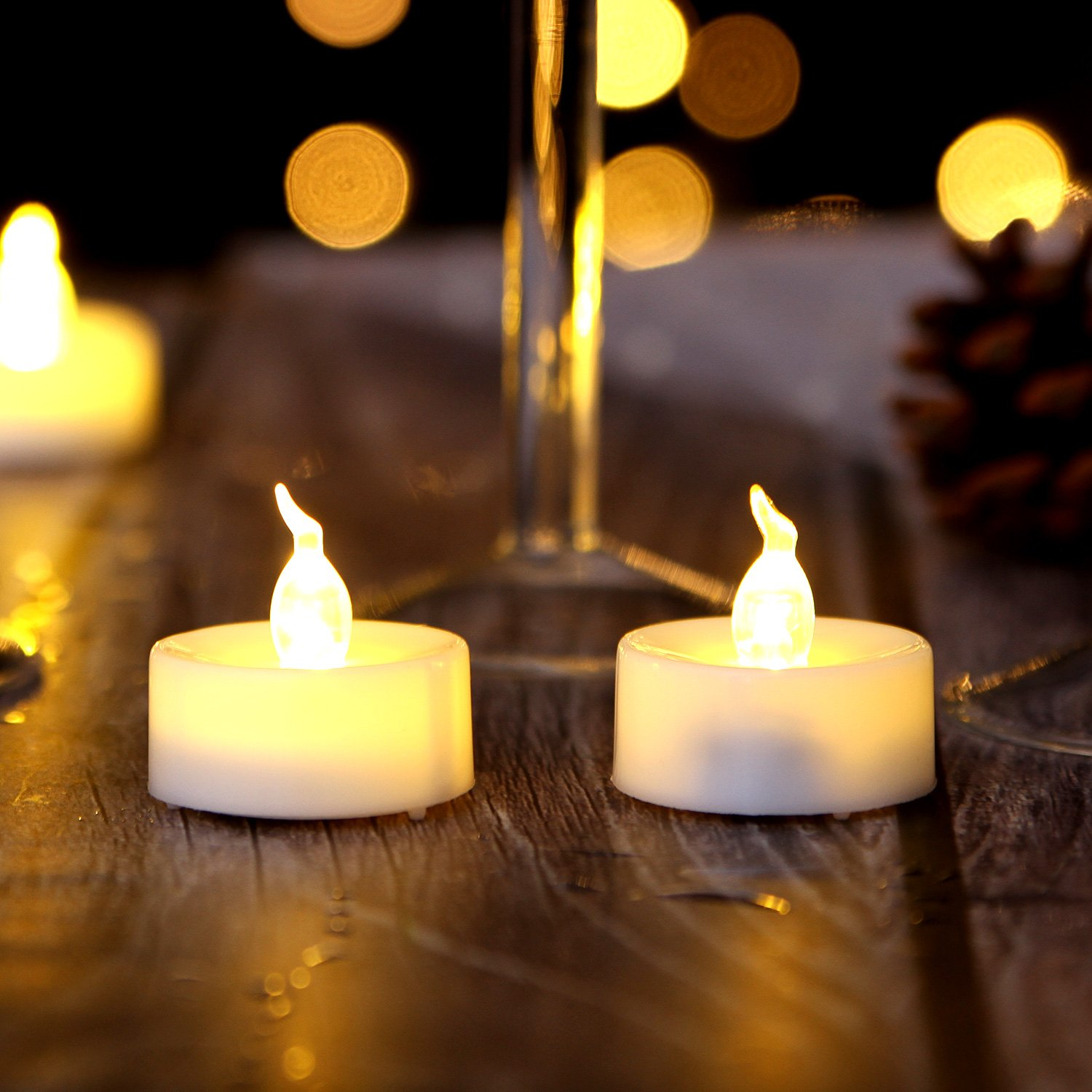 AGPtEK Tea Lights,100 Pack Flameless LED Candles Battery Operated Tealight Candles No Flicker Long Lasting Tealight for Wedding Holiday Party Home Decoration(Warm White) by AGPTEK (Image #2)