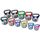 GYMAX Vinyl Kettlebell Multicolour Weights Training Fitness Workout Home Gym 2kg-20kg