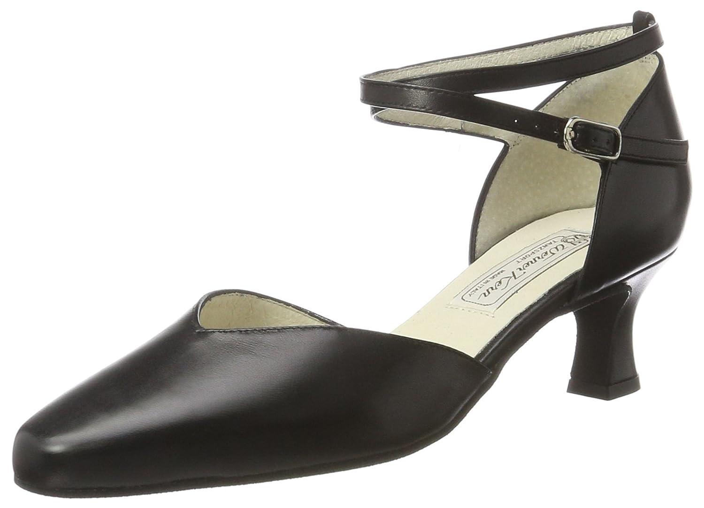 Werner Kern Femmes Chaussures de Danse Betty - Cuir Noir - 5,5 cm