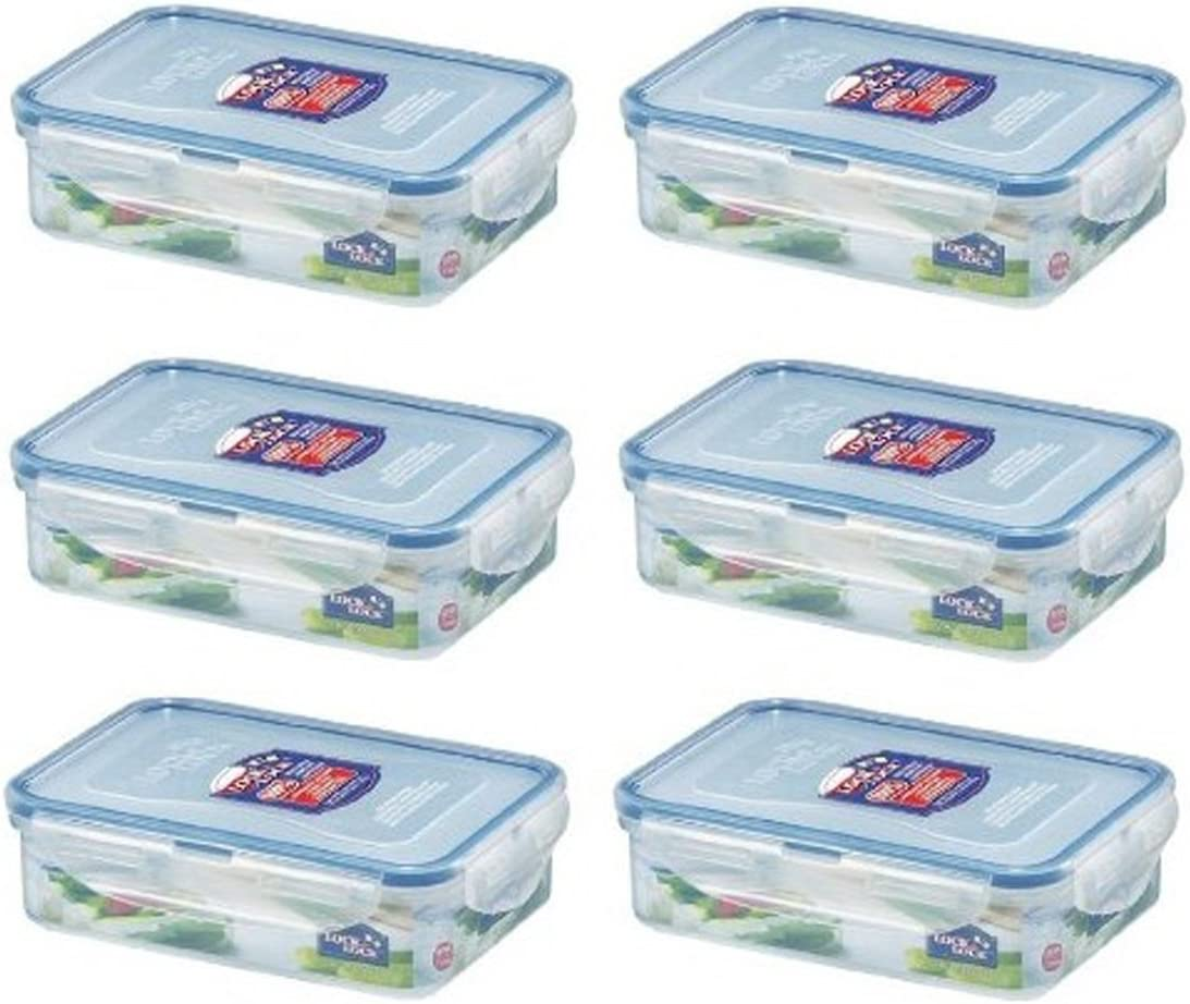 Lock & Lock, No BPA, Water Tight, Food Container, 2.3-cup, 19-oz, Pack of 6, HPL815