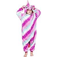 Coralup Mono de franela con capucha para niños y niñas, con diseño de unicornio, dinosaurio, león, cebra, supersuave