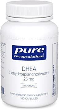 Pure Encapsulations - DHEA (Dehydroepiandrosterone) 25 mg - Best DHEA Supplement For Fertility