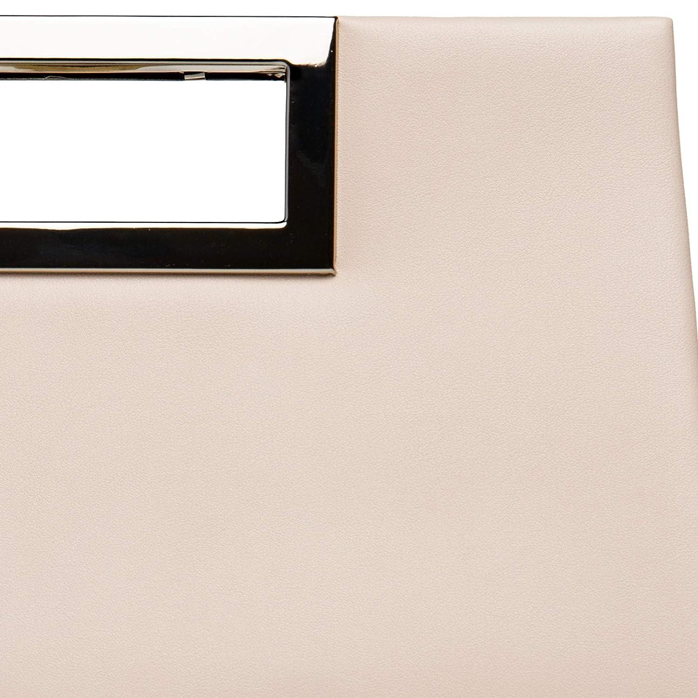 Umh/ängetasche mit langer Kette CASPAR TA408 elegante Damen XL Clutch Tasche//Abendtasche