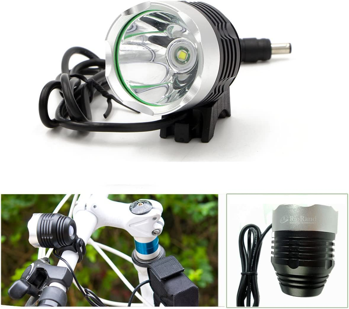Bike Headlight Aluminum Alloy Multifunction Bicycle Head Flashlight 21 LED Lamp