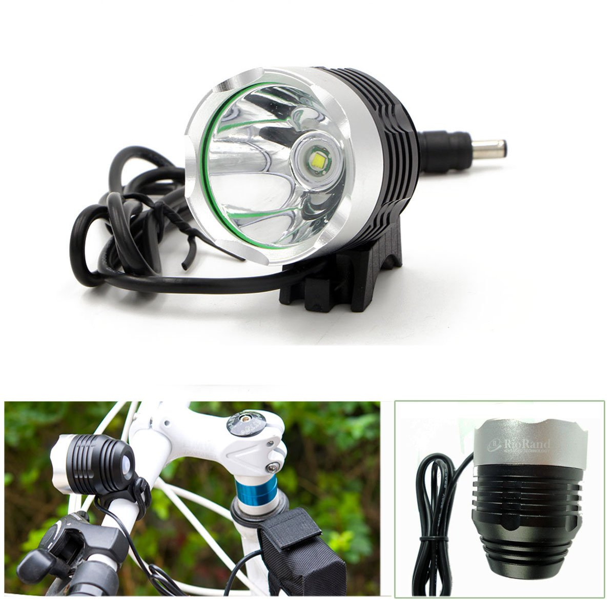 RioRand 4 Mode 1200 Lm Cree Xml T6 Bulb LED Bicycle Bike Headlight Lamp