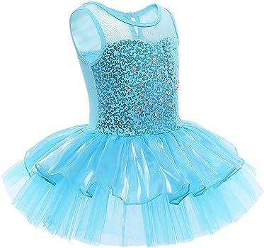 CHICTRY Girls Short Sleeves Back Detailing Ballet Tutu Leotard Skirt Gymnastics Dance Outfit Clothes