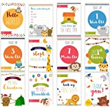 LovelySprouts Moments & Milestone Baby Age Cards | Set of 35 Photo Cards in a Keepsake Box Gift Set | Capture Precious Moments | Perfect Baby Shower Gift
