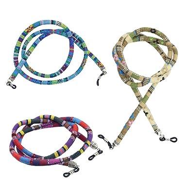 Baoblaze 4pcs 6mm Cotton Rope Cord Eyeglasses Sunglasses Ethnic Boho Strap Holder Chain