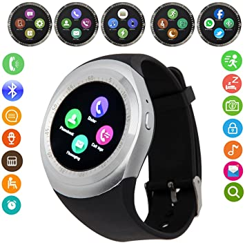 Yobeso Y1 Smart Watch Bluetooth SmartWatch con pantalla táctil ...