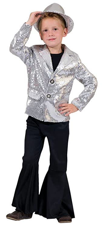 60s 70s Kids Costumes & Clothing Girls & Boys Morris Costumes Unisex Silver Disco Jacket $42.39 AT vintagedancer.com